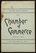 Books:Americana & American History, [Colorado]. Frank Hall, editor. Second Annual Report of theDenver Chamber of Commerce and Board of Trade....