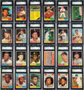 Baseball Cards:Sets, 1961 Topps Baseball High Grade Near Set (489/597) With 489 SGC Graded Cards!...