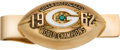 Football Collectibles:Others, 1962 Green Bay Packers World Championship Gold Tie Clip - Gifted by Vince Lombardi. ...