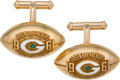 Football Collectibles:Others, 1961 Green Bay Packers World Championship Cuff Links - Gift from Vince Lombardi. ...