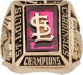 Baseball Collectibles:Others, 1968 St. Louis Cardinals National League Championship RingPresented to Bobby Tolan. ...