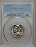 Jefferson Nickels, 1956 5C MS66 Full Steps PCGS. PCGS Population: (61/2). NGC Census: (58/3). ...