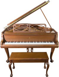A Steinway & Sons Chippendale-Style Model M Grand Piano, 20th century Marks to ha