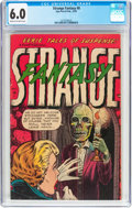 Golden Age (1938-1955):Horror, Strange Fantasy #8 (Farrell, 1953) CGC FN 6.0 Cream to off-whitepages....