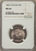 Coins of Hawaii , 1883 25C Hawaii Quarter MS64 NGC. NGC Census: (239/274). PCGSPopulation: (350/326). CDN: $400 Whsle. Bid for problem-free ...