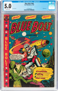 Golden Age (1938-1955):Science Fiction, Blue Bolt #106 (Star Publications, 1950) CGC VG/FN 5.0 Off-whitepages....