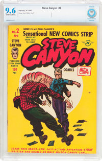 Steve Canyon #2 (Harvey, 1948) CBCS NM+ 9.6 Off-white to white pages