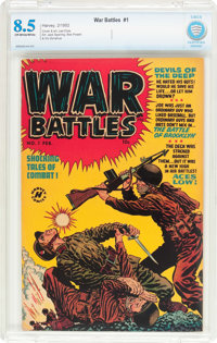 War Battles #1 (Harvey, 1952) CBCS VF+ 8.5 Off-white to white pages