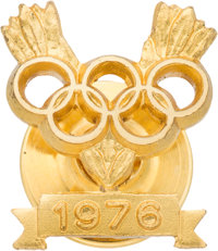 1976 Olga Korbut Summer Olympics Gold Medal Pin from the Olga Korbut Collection