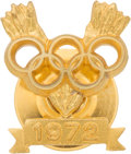 Olympic Collectibles:Autographs, 1972 Olga Korbut Summer Olympics Gold Medal Pin from the Olga Korbut Collection. ...
