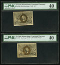Fractional Currency:Second Issue, Fr. 1288 25¢ Second Issue PMG Extremely Fine 40. Fr. 1290 25¢ Second Issue PMG Extremely Fine 40.. ... (Total: 2 notes)