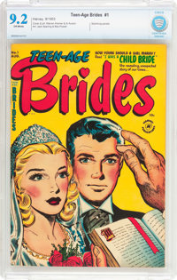 Teen-Age Brides #1 (Harvey, 1953) CBCS NM- 9.2 Off-white pages