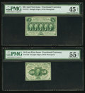 Fractional Currency:First Issue, Fr. 1242 10¢ First Issue PMG About Uncirculated 55 Net. Fr. 131250¢ First Issue PMG Choice Extremely Fine 45 Net.. ... (Total: 2notes)