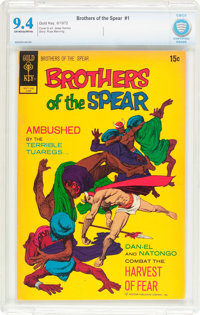Brothers of the Spear #1 (Gold Key, 1972) CBCS NM 9.4 Off-white to white pages