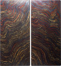 Decorative Arts, Continental, A Pair of Impressive and Colorful Tiger Iron Tabletops. Ord Ranges,Pilbara, Western Australia. 27-1/4 x 12-1/2 inches (69.2... (Total:2 Items)