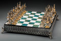 "Decorative Arts, Continental:Other , A Thirty-Three Piece Gilt Metal and Semi-Precious Stone Chess Setowned by ""The Wolf of Wall Street"" Jordan Belfort, 20th ce..."