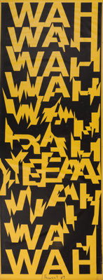 Ferdinand Kriwet (German, b. 1942) Wah Wah, 1969 Silkscreen on PVC film 129 x 40 inches (327.7 x