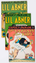 Golden Age (1938-1955):Miscellaneous, Comics On Parade Group of 5 (United Features Syndicate, 1941-43) Condition: Average VG+.... (Total: 5 Comic Books)