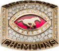 Football Collectibles:Others, 2001 Calgary Stampeders Grey Cup Championship Ring Presented to Anthony Prior. ...