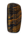 Lapidary Art:Carvings, Tiger's Eye Slab. South Africa. 5.55 x 2.76 x 0.21 inches (14.10x 7.00 x 0.54 cm). ...