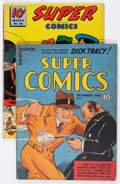 Golden Age (1938-1955):Miscellaneous, Super Comics #8 and 46 Group (Dell, 1938-42) Condition: Average VG/FN.... (Total: 2 Comic Books)