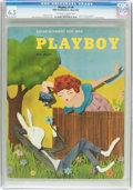 Magazines:Vintage, Playboy #6 (HMH Publishing, 1954) CGC FN+ 6.5 Off-white to white pages....