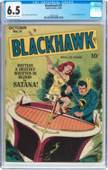 Golden Age (1938-1955):Adventure, Blackhawk #21 (Quality, 1948) CGC FN+ 6.5 Off-white to white pages....