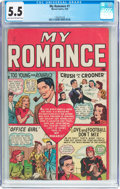 Golden Age (1938-1955):Romance, My Romance #1 (Marvel, 1948) CGC FN- 5.5 Light tan to off-whitepages....