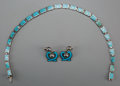 Silver Smalls:Other , Three-Pieces of Margot de Taxco Silver and Enamel Jewelry, Taxco,Mexico, circa 1955-1978. Marks: MARGOT DE TAXCO, 5403, S...(Total: 3 Items)
