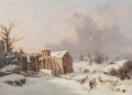 Fine Art - Painting, American:Antique  (Pre 1900), Thomas Birch (American, 1779-1851). The Mill in the Winter,circa 1842. Oil on panel. 16-1/4 x 24 inches (41.3 x 61.0 cm...
