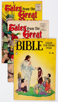 Comic Books - Assorted Golden Age Bible Comics Group of 4 (Various Publishers, 1950s) Condition: Average FN.... (Total:...