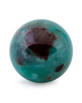 Lapidary Art:Eggs and Spheres, Chrysocolla Sphere. Inspiration Mine, Miami-Inspiration deposit.Inspiration, Miami-Inspiration District. Globe-Miami Dist...