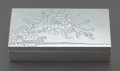 Asian:Japanese, A Japanese Silver Lidded Cigarette Box, 20th century. Marks:(two-character mark). 1-3/8 h x 6 w x 3-1/4 d inches (3.5 x 15....