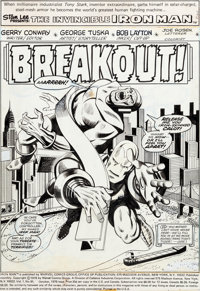 George Tuska and Bob Layton Iron Man #91 Splash Page 1 Original Art (Marvel, 1976)