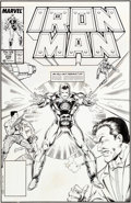 "Original Comic Art:Covers, Bob Layton and Jackson ""Butch"" Guice Iron Man #235 CoverOriginal Art (Marvel, 1988)...."