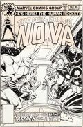 Original Comic Art:Covers, Carmine Infantino and Joe Rubinstein Nova #24 Cover OriginalArt (Marvel, 1979)....