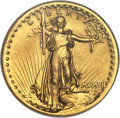High Relief Double Eagles, 1907 $20 High Relief, Wire Rim MS61 NGC. CAC....