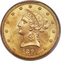 1891-CC/CC $10 Repunched Mintmark, FS-501 MS63 PCGS. CAC. Variety 3-C....(PCGS# 145728)