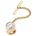 Estate Jewelry:Other, Diamond, Gold, Yellow Metal Tie Tack. ...