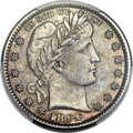 Barber Quarters, 1896-S 25C -- Cleaning -- PCGS Genuine. AU Details....