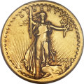 High Relief Double Eagles, 1907 $20 High Relief, Wire Rim VF35 PCGS....