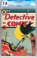 Golden Age (1938-1955):Superhero, Detective Comics #43 (DC, 1940) CGC FN/VF 7.0 White pages....