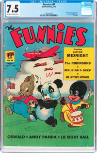 The Funnies #64 (Dell, 1942) CGC VF- 7.5 Off-white to white pages