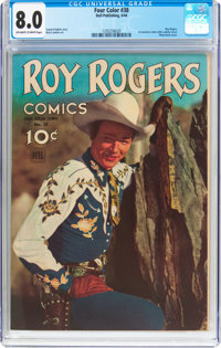 Four Color #38 Roy Rogers Comics (Dell, 1944) CGC VF 8.0 Off-white to white pages