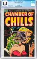 Golden Age (1938-1955):Horror, Chamber of Chills #19 (Harvey, 1953) CGC FN+ 6.5 Off-whitepages....