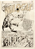 Original Comic Art:Splash Pages, Bernard Krigstein (as B.B. Krig) Sensation Comics #84 StoryPage 1 Original Art (DC Comics, 1948)....