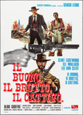 "Movie Posters:Western, The Good, the Bad and the Ugly (PEA, R-1968). Italian 2 - Fogli(39.25"" X 55""). Western.. ..."