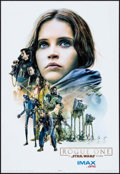 """Movie Posters:Science Fiction, Rogue One: A Star Wars Story (Walt Disney Studios, 2016). AMC IMAXExclusive Poster (13"""" X 19"""") Jyn Erso Style. Science Fict..."""