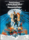 "Movie Posters:James Bond, Diamonds are Forever (United Artists, 1971). German A1 (23.25"" X33"") & Uncut Pressbook (8 Pages, 11"" X 17""). James Bond.. ...(Total: 2 Items)"