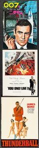 "Movie Posters:James Bond, Thunderball & Others Lot (United Artists, 1965). Programs (2)(Multiple Pages, 8.5"" X 11.5"" & 9"" X 12"") & JapaneseProgram (... (Total: 3 Items)"